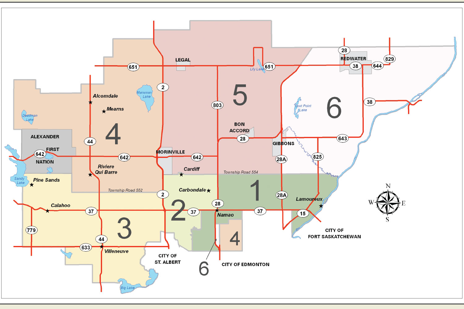 Sturgeon County Map Sturgeon County   Division Map