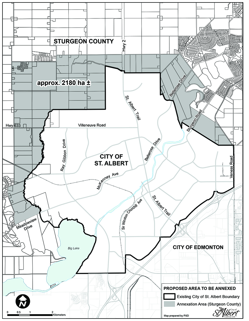 Sturgeon County Map Sturgeon County   Boundary Adjustment